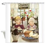 Children Saying Grace Shower Curtain