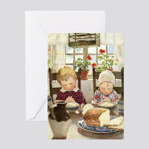 Children Saying Grace Greeting Card