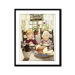 Children Saying Grace Framed Panel Print