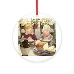 Children Saying Grace Ornament (Round)