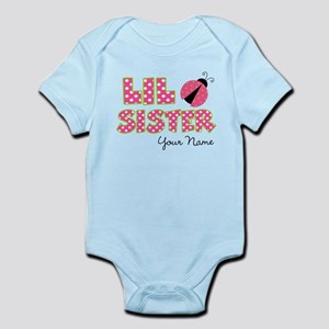 Little Sister Ladybug Pink Infant Bodysuit