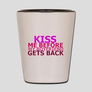 Kiss Me Shot Glass