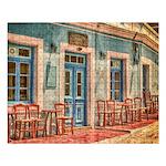 Cafe In Karpathos 500 Piece Large Puzzle