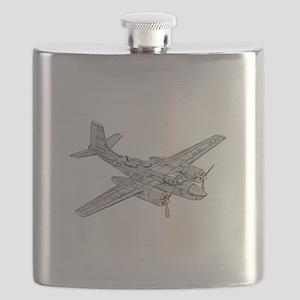 Douglas B-26 Invader -Colored Flask