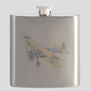 Stearman PT-17 Bi-Plane -Colored Flask