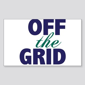 Off the Grid Sticker (Rectangle)