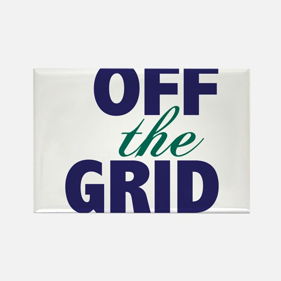 Off the Grid Rectangle Magnet