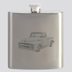 1956 Ford Truck in blue Flask