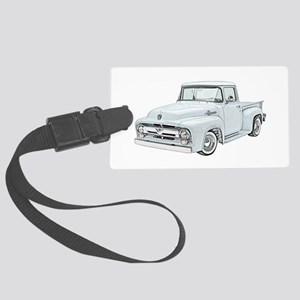 1956 Ford Truck in blue Large Luggage Tag