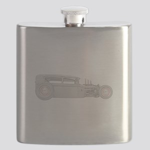 1930 Ford Rat Rod i n color Flask