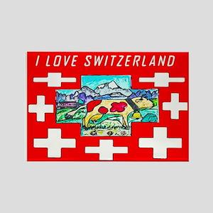 I love Switzerland Rectangle Magnet
