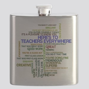 Great Teachers Word Art Flask