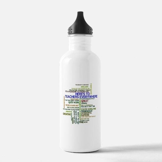 Great Teachers Word Art Water Bottle