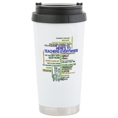 Great Teachers Word Art Stainless Steel Travel Mug