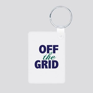 Off the Grid Aluminum Photo Keychain