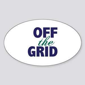 Off the Grid Sticker (Oval)