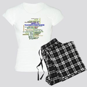 Great Teachers Word Art Women's Light Pajamas