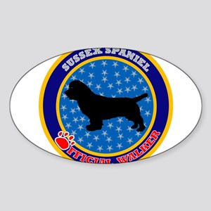 Sussex Spaniel Oval Sticker