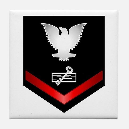 Navy PO3 Disbursing Clerk Tile Coaster