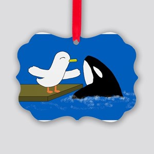 I love shamu! Picture Ornament