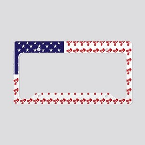 Patriotic BMX Bike Rider/USA License Plate Holder