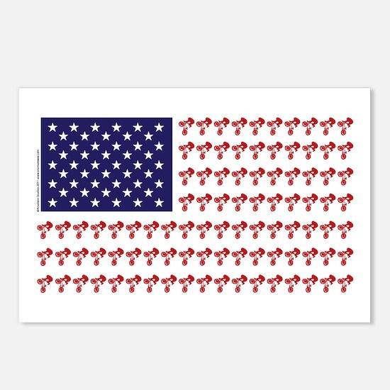 Patriotic BMX Bike Rider/USA Postcards (Package of