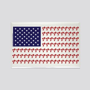 Patriotic BMX Bike Rider/USA Rectangle Magnet
