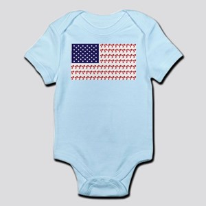 Patriotic BMX Bike Rider/USA Infant Bodysuit