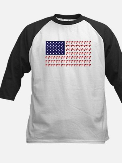 Patriotic BMX Bike Rider/USA Kids Baseball Jersey