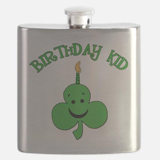 Birthday Kid with Happy Shamrock Flask