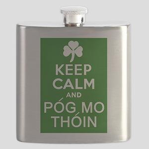 Keep Calm and Pog Mo Thoin Flask