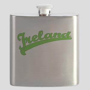 Green Baseball Font IRELAND Flask