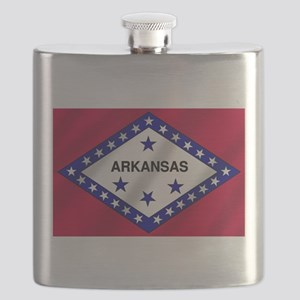 Arkansas State Flag Flask