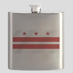 Washington DC Flag Flask