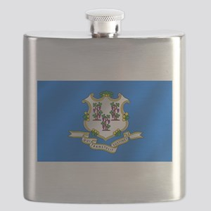 Flag of Connecticut Flask