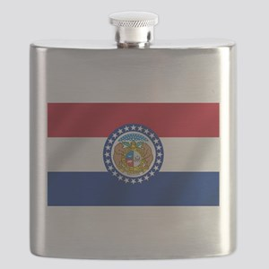 Missouri State Flag Flask