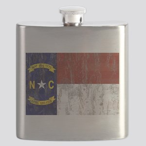 North Carolina Grunge Flag Flask