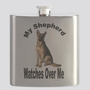 My Shepherd Watches Over Me Flask
