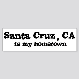 Santa Cruz - hometown Bumper Sticker