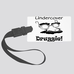undercover-druggie Large Luggage Tag