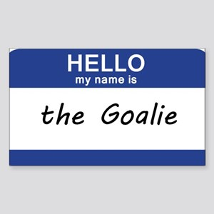 Hello my name is Goalie Sticker (Rectangle)