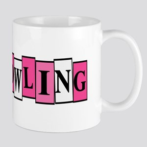 Pink and White Bowling Mug