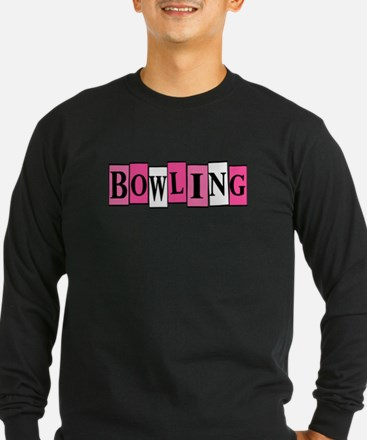 Pink and White Bowling T