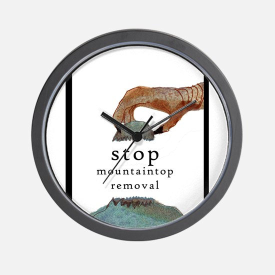 stop mountaintop removal wall clock