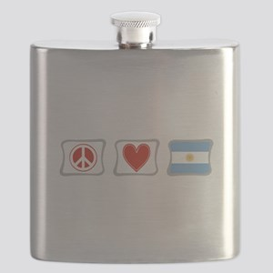 PeaceLoveArgentinaSquares Flask