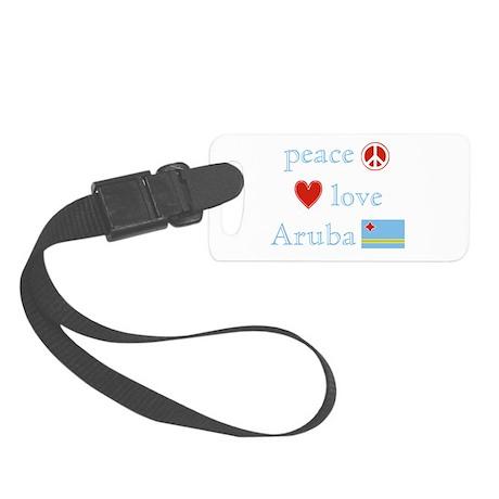 PeaceLoveAruba.png Small Luggage Tag