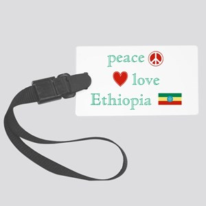PeaceLoveEthiopia Large Luggage Tag