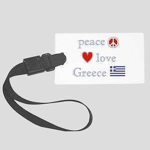 PeaceLoveGreece Large Luggage Tag