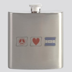 PeaceLoveHondurasSquares Flask