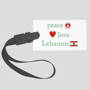 PeaceLoveLebanon Large Luggage Tag